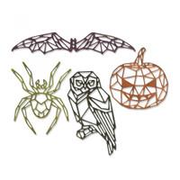 Sizzix Thinlits Die Set 4PK - Geo Halloween 664208