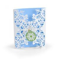 Sizzix Thinlits Die Set 4PK - Snowflake Card Wrap 663606