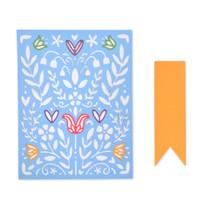 Sizzix Thinlits Die Set 7PK - Folk Art Stencil 663608