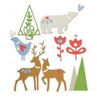 Sizzix Thinlits Die Set 10PK - Christmas Elements 663413