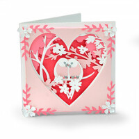 Sizzix Thinlits Die Set 20PK - Love Birds Shadow Box 663619