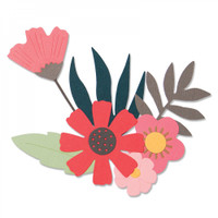Sizzix Thinlits Die Set 9PK - Free Style Florals 663437