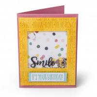 Sizzix Impresslits Embossing Folder - Birthday Smiles 662457