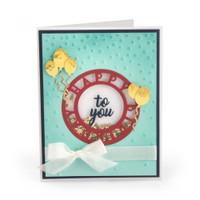 Sizzix Impresslits Embossing Folder - Happy Birthday 663212