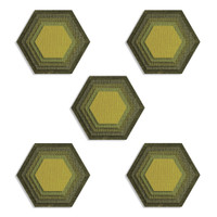 New! Sizzix Thinlits Die Set 25PK – Stacked Tiles, Hexagons 664420