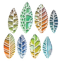 New! Sizzix Thinlits Die Set 8PK – Cut Out Leaves 664431