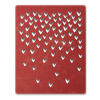 New! Sizzix Thinlits Die Set 4PK – Falling Hearts 664415
