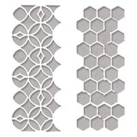 New! Sizzix Thinlits Die Set 2PK - Pattern Repeat 663860