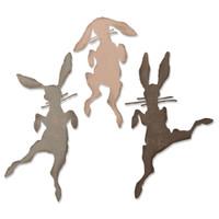 New! Sizzix Thinlits Die Set 3PK - Bunny Hop 664421