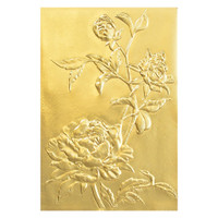 New! Sizzix 3-D Texture Fades Embossing Folder - Roses 664189
