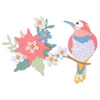 New! Sizzix Thinlits Die Set 14PK - Bird Scene 664392