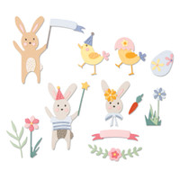 New! Sizzix Thinlits 23PK - Easter Celebration 664357