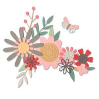 Sizzix Thinlits Die Set 17PK - Bold Flora 664397