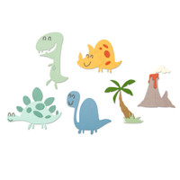 New! Sizzix Thinlits Die Set 9PK - Dinosaurs 664393