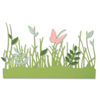 New! Sizzix Thinlits Die Set 4PK - Springtime Borders 664382