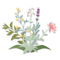 New! Sizzix Thinlits Die Set 8PK - Spring Stems 664381