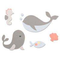New! Sizzix Bigz Die - Ocean Friends 664596