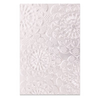 New! Sizzix 3-D Textured Impressions Embossing Folder - Doily 662265