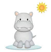 Elizabeth Craft Design Die - Hippo Rhino EC1664