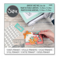 """Sizzix Making Essential - Adhesive Sheets, 6"""" x 6"""", Permanent, 10 Sheets 656802"""