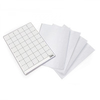 """Sizzix Accessory - Sticky Grid Sheets, 6"""" x 8 1/2"""", 5 Pack 663533"""