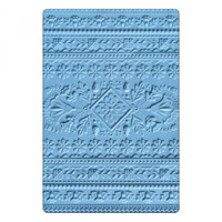 Sizzix 3-D Textured Impressions Embossing Folder - Folk Art Pattern 663613