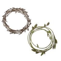 New! Sizzix Thinlits Die Set 10PK - Funky Wreath 664434