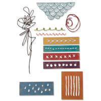 Sizzix Thinlits Die Set 11PK - Media Marks 664436
