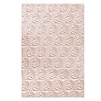 New! Sizzix 3-D Textured Impressions Embossing Folder - Geometric Lattice 664425