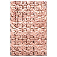 New! Sizzix 3-D Textured Impressions Embossing Folder - Adorned Tile 664426