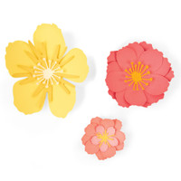 New! Sizzix Thinlits Die Set 7PK - Floral Blossom 664443