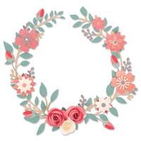 New! Sizzix Thinlits Die Set 6PK - Wedding Wreath 663862