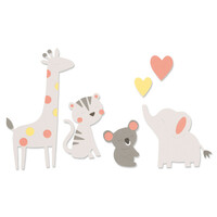 New! Sizzix Bigz Die - Zoo Friends 663863