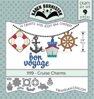 New! Karen Burniston - Cruise Charms 1119