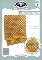 New! Karen Burniston - Pattern Plates - Tiles 1125