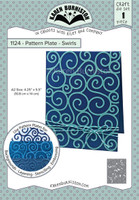 Karen Burniston - Pattern Plates - Swirls 1124