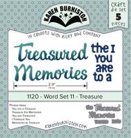 New! Karen Burniston - Word Set 11 - Treasure 1120