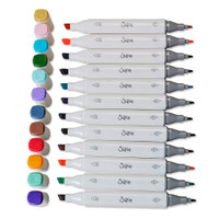Sizzix Making Essential - Permanent Pens, Assorted Colors, 12 Pack 663056