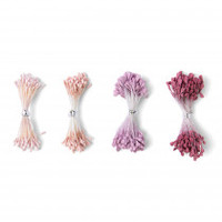 Sizzix Making Essential - Flower Stamens, Pink/Purple, Assorted Sizes, 400PK 664665