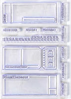 Elizabeth Craft Design Clear Stamps - Sidekick Planner Stamp Set 2 CS -177