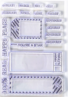 Elizabeth Craft Design Clear Stamps - Sidekick Planner Stamp Set 1 CS -176