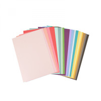 "New! Sizzix Surfacez - Cardstock, 8 1/4"" x 11 5/8"", 20 Assorted Colors, 80 Sheets 663007"