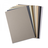 "New! Sizzix Surfacez - Cardstock, 8 1/4"" x 11 5/8"", 10 Neutral Colors, 60 Sheets 663780"