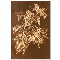 New! Sizzix 3-D Texture Fades Embossing Folder - Poinsettia by Tim Holtz  664247