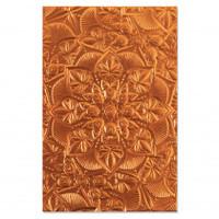 New! Sizzix 3-D Textured Impressions Embossing Folder - Floral Mandala 664405