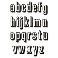 New! Sizzix Thinlits Die Set 26PK - Alphanumeric Shadow Lower by Tim Holtz 664728