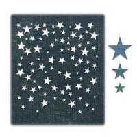 New! Sizzix Thinlits Die Set 4PK - Falling Stars by Tim Holtz 664732