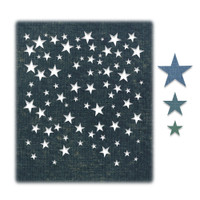 New! Sizzix Thinlits Die Set 4PK - Falling Stars by Tim Holtz 664732