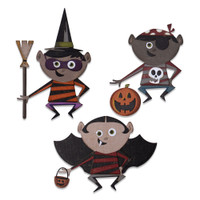 New! Sizzix Thinlits Die Set 18PK - Trick or Treater by Tim Holtz 664751