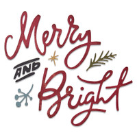 New! Sizzix Thinlits Die Set 6PK - Merry & Bright by Tim Holtz 664739